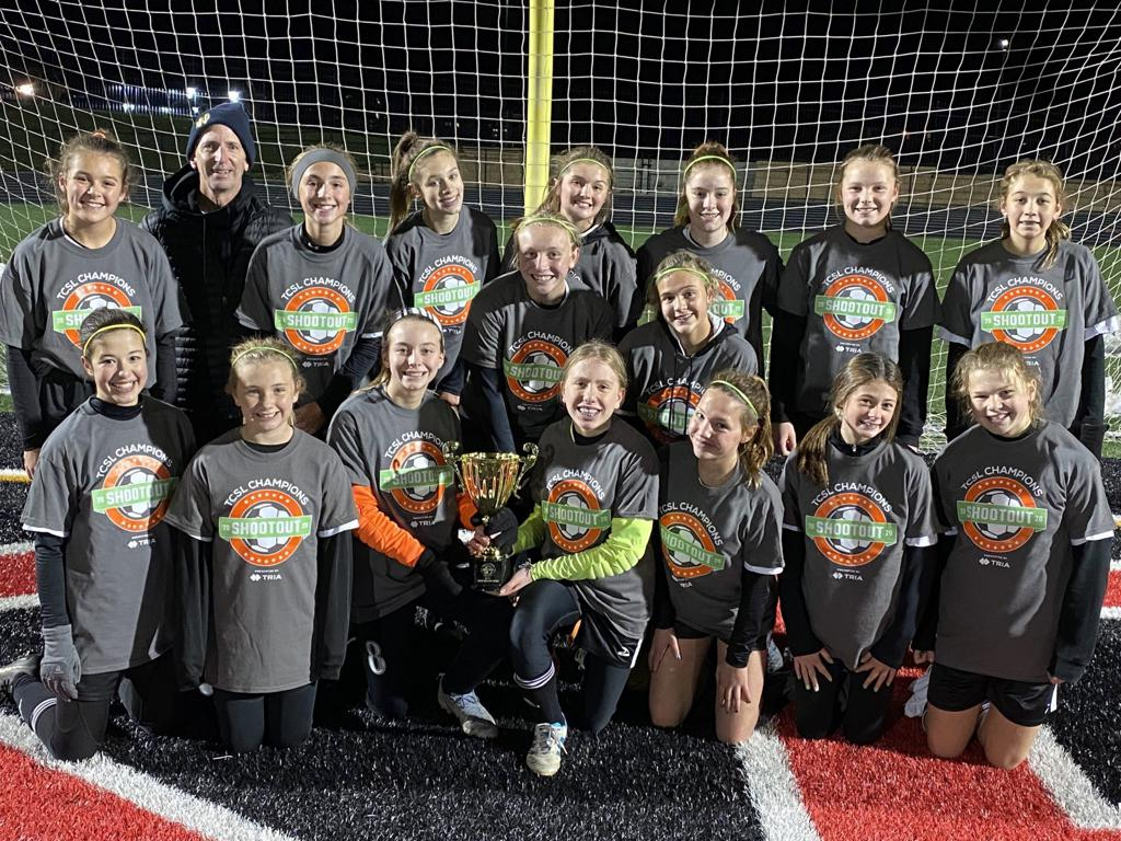 ERSC 07 Girls Elite Win 2020 TCSL Champions Shootout vs Lakeville Select 07 girls at Vaughn Field in Shakopee on Oct. 29th, 2020.