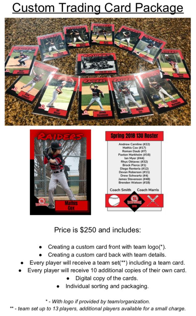 Texas Raiders Team Baseball Cards