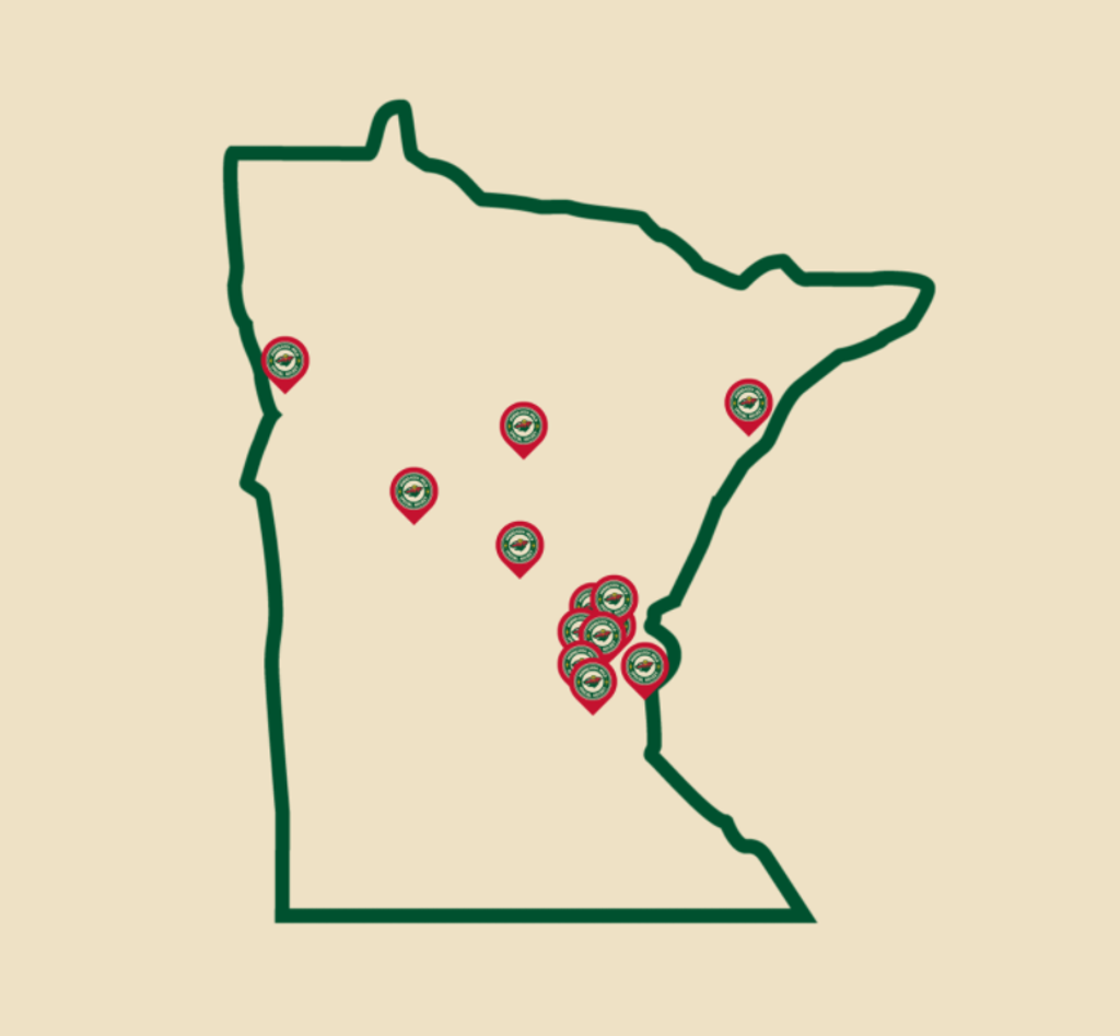 14 Teams across Minnesota