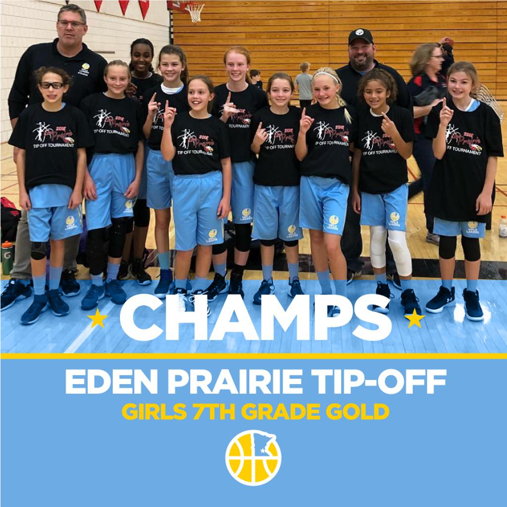 Girls 7th Grade Gold take 1st Place at Eden Prairie Tip-Off
