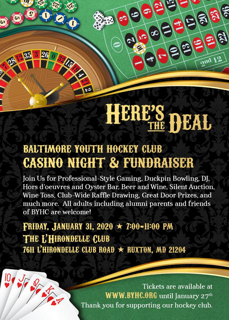 Baltimore Youth Hockey Club Casino Night & Fundraiser