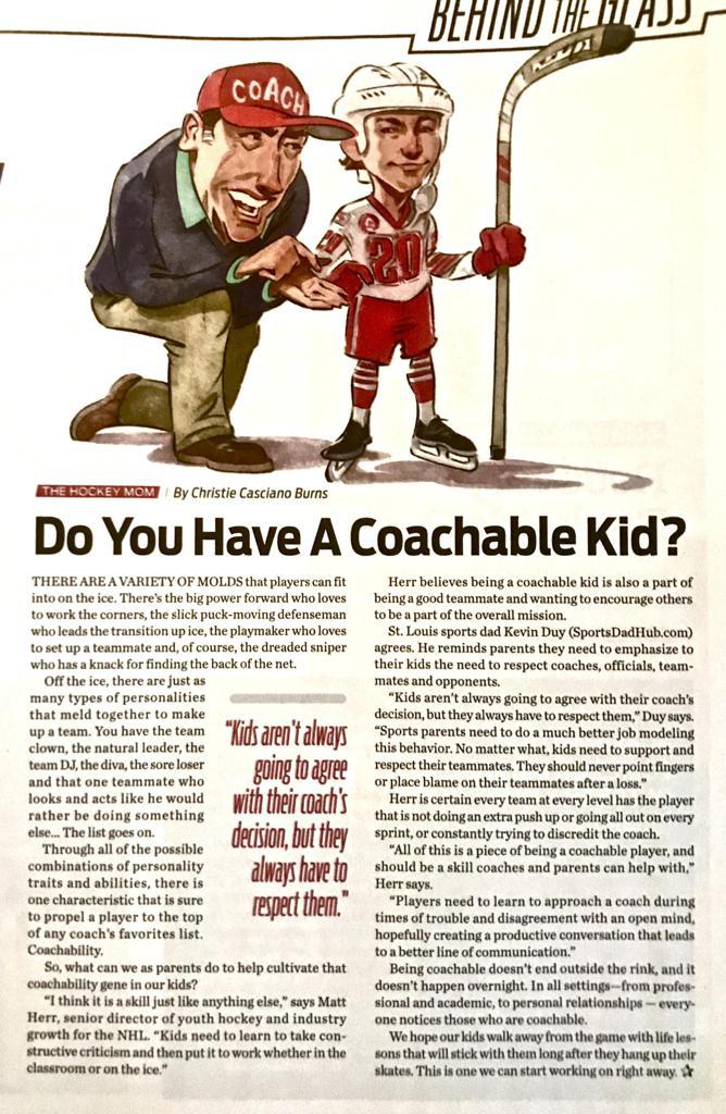 USA Hockey Magazine/January 2020: Coachable Kids
