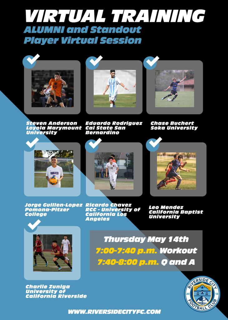 May 14th Alumni and Standout Player Virtual Session