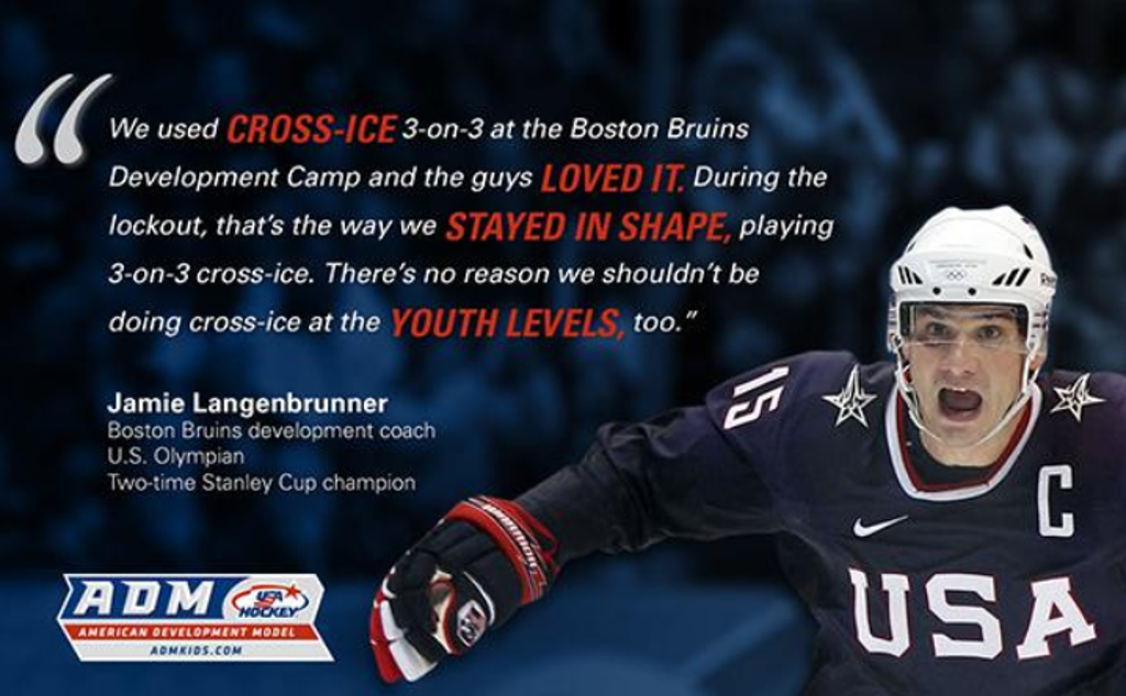 Quote from Boston Bruins Development Coach About Importance of Cross-Ice Hockey