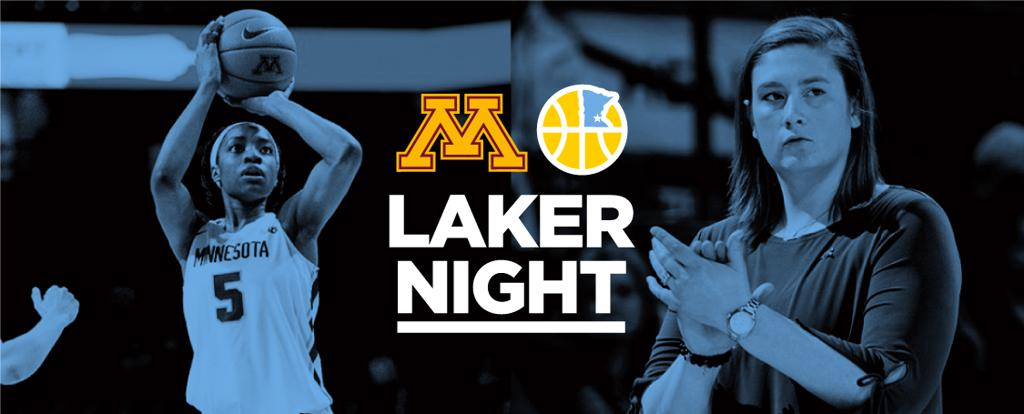 Gopher Women's Basketball game at the Barn (William's Arena). Mpls Lakers 6th grade girls teams will scrimmage at halftime.