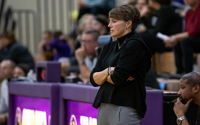 Eden Prairie coach Ellen Wiese and the Eagles have been through a few tough games so far. On Friday, the schedule doesn't get easier when they host Lakeville North. Photo by Gary Mukai, SportsEngine
