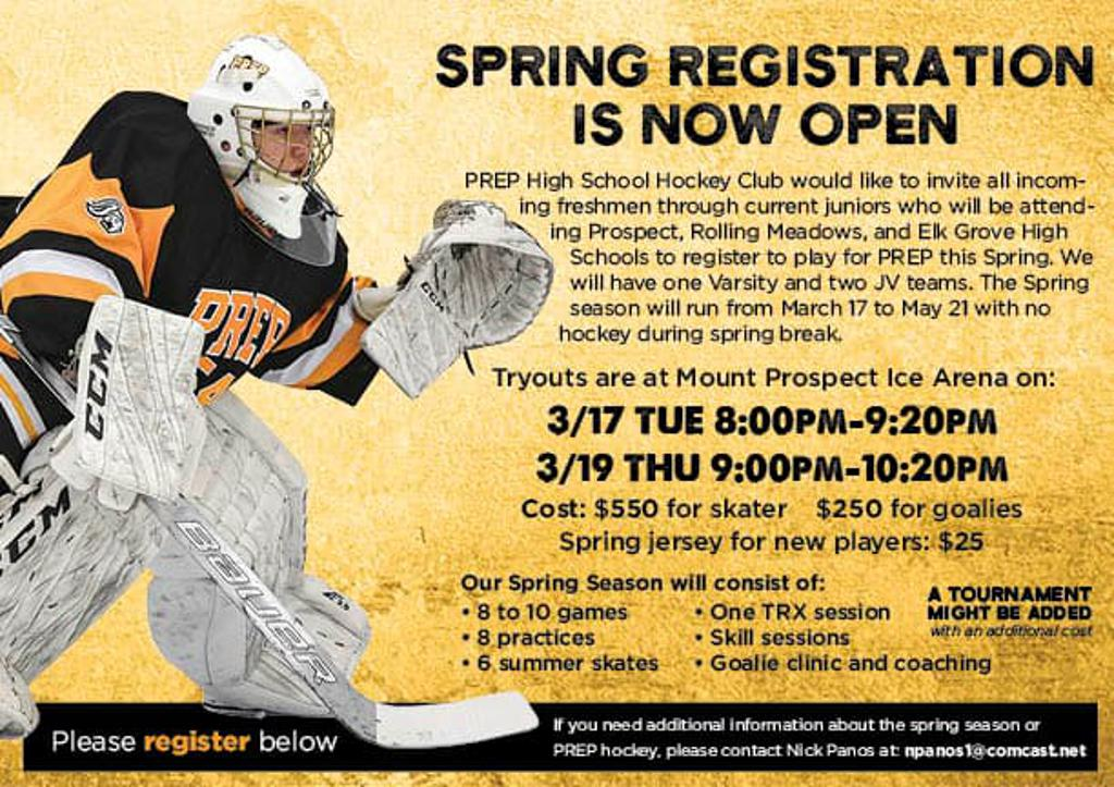 2020 PREP Spring Hockey Season