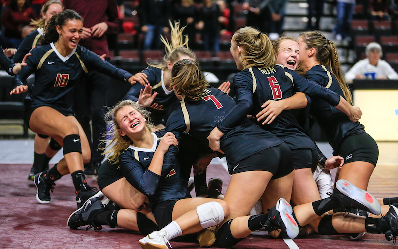 Lakeville South celebrated a Class 3A, Section 1 championship victory over rival Lakeville North last year. The Cougars might pose another stiff challenge in this year's section tournament. Photo by Mark Hvidsten, SportsEngine