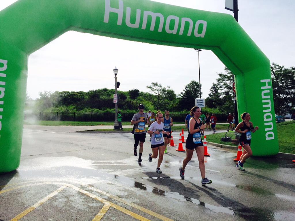 Humana-sponsored finish line