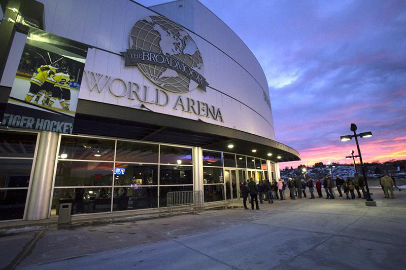 Broadmoor World Arena, home of the Colorado College men's hockey team since 1998. The Tigers plan to move into a new arena being built on campus in 2021. Photo courtesy of Broadmoor World Arena