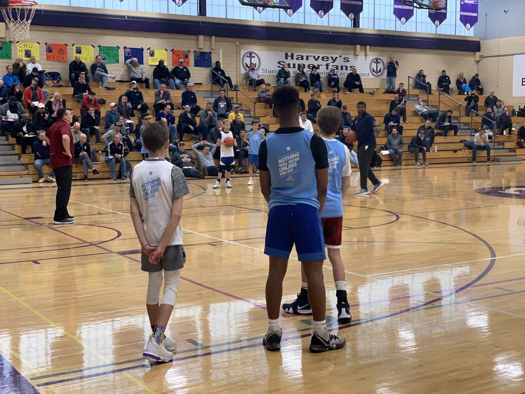 Mpls Lakers 7th grade Gold team participate in the Trusted Coaches Clinic at Southwest High School