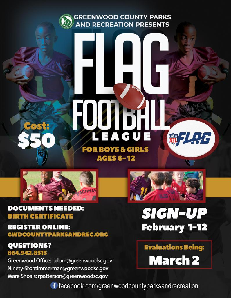 2020 Flag Football Flyer