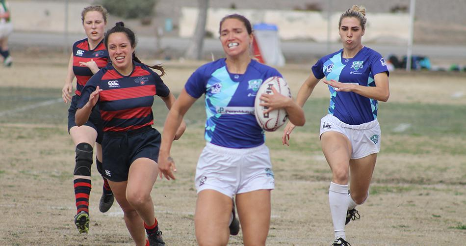 Copyright 2019 NSCRO   NSCRO/Penn Mutual Women's 7s Select Side team at the 2019 Las Vegas Invitational