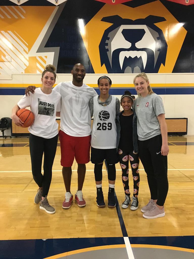 Kobe Bryant, Gianna Bryant, Jasmine Davis, Katie & Karlie Samuelson