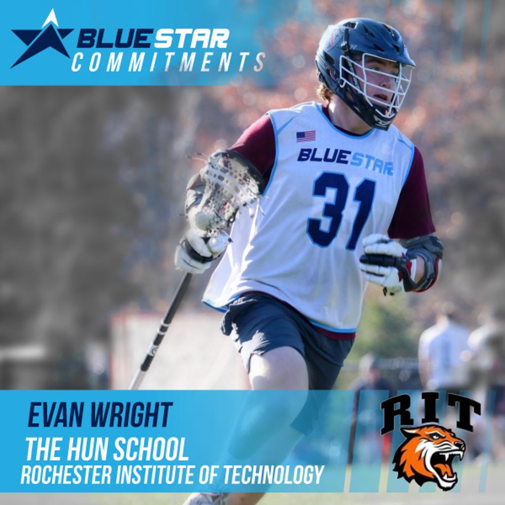 Evan Wright Blue Star Lacrosse Hun RIT