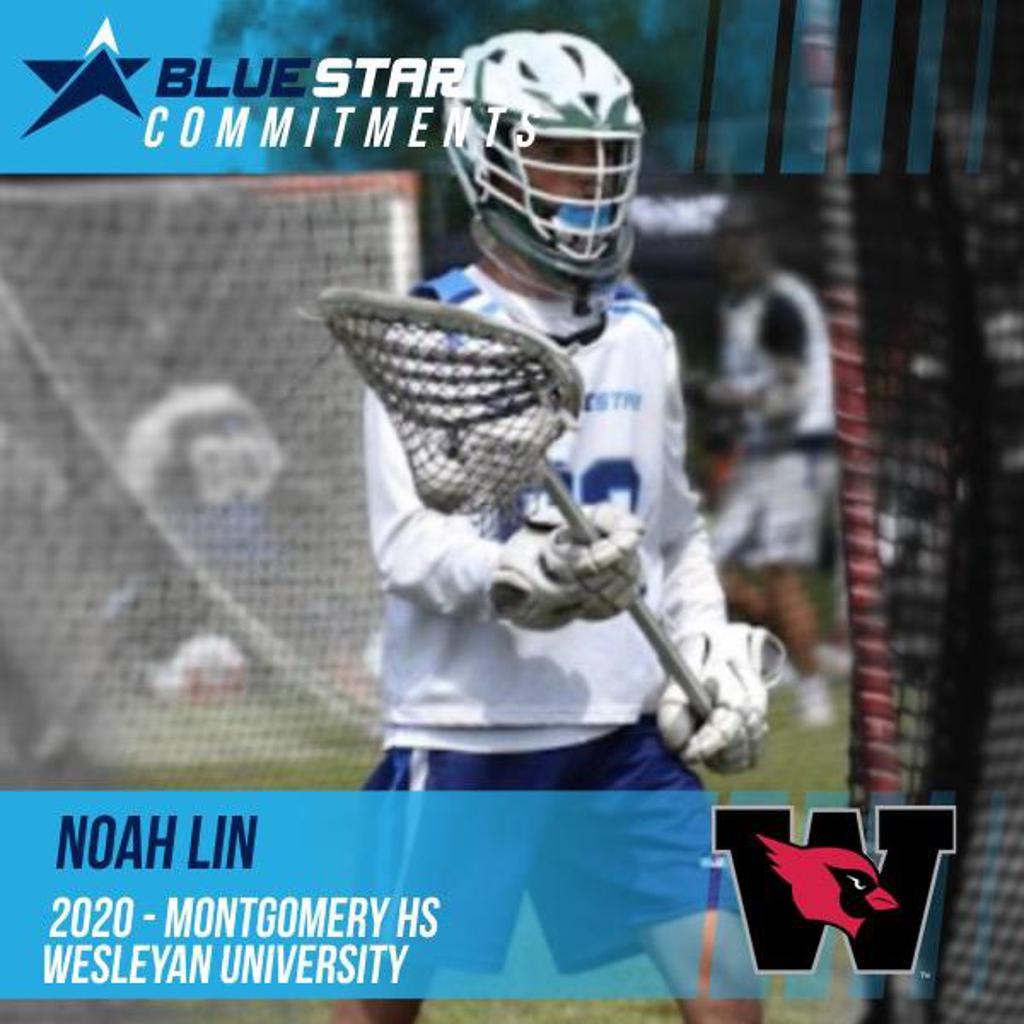 Noah Lin Montgomery Wesleyan Blue Star Lacrosse