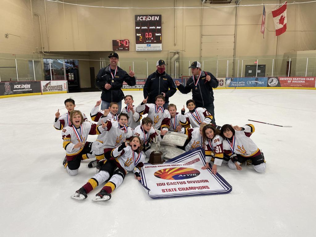 Congratulations to the Jr Sun Devils 10U Elite team, the 2020-21 10U Cactus AAHA House/Rec Travel (AZYHL) State Champions