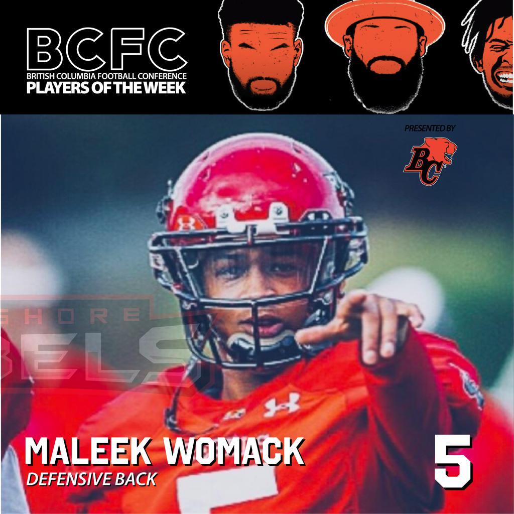 BCFC DEFENSIVE PLAYER OF THE WEEK: MALEEK WOMACK