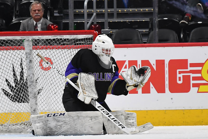 Fort Collins goalie Sam Simon had an elite season which included him stopping 84 shots in the CHSAA state championship game in March. Photo courtesy of Paul Shepardson Photography