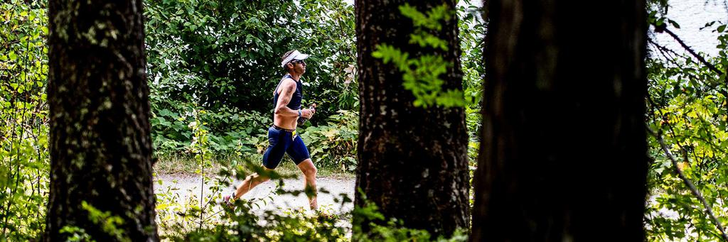 70.3 Calgary Runner in the woods