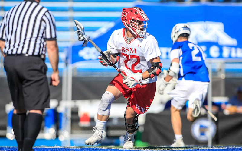 Junior midfielder Jack Budniewski was one of four members of Benilde-St. Margaret's boys' lacrosse program named to the 2019 all-tournament team. Photo by Mark Hvidsten, SportsEngine