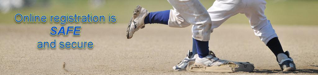 Baseball registration is safe and secure