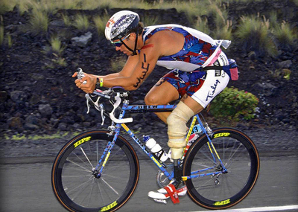 Jim racing Kona in 1992