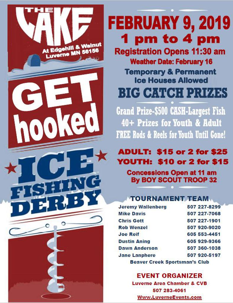 Get Hooked Ice Fishing Derby Poster