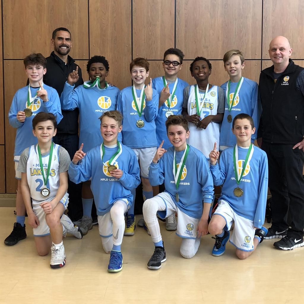 Boys 6th Grade Gold take 1st Place at Rockford Showcase. Way to go Champs! #MplsLakers #MplsLakersBasketball
