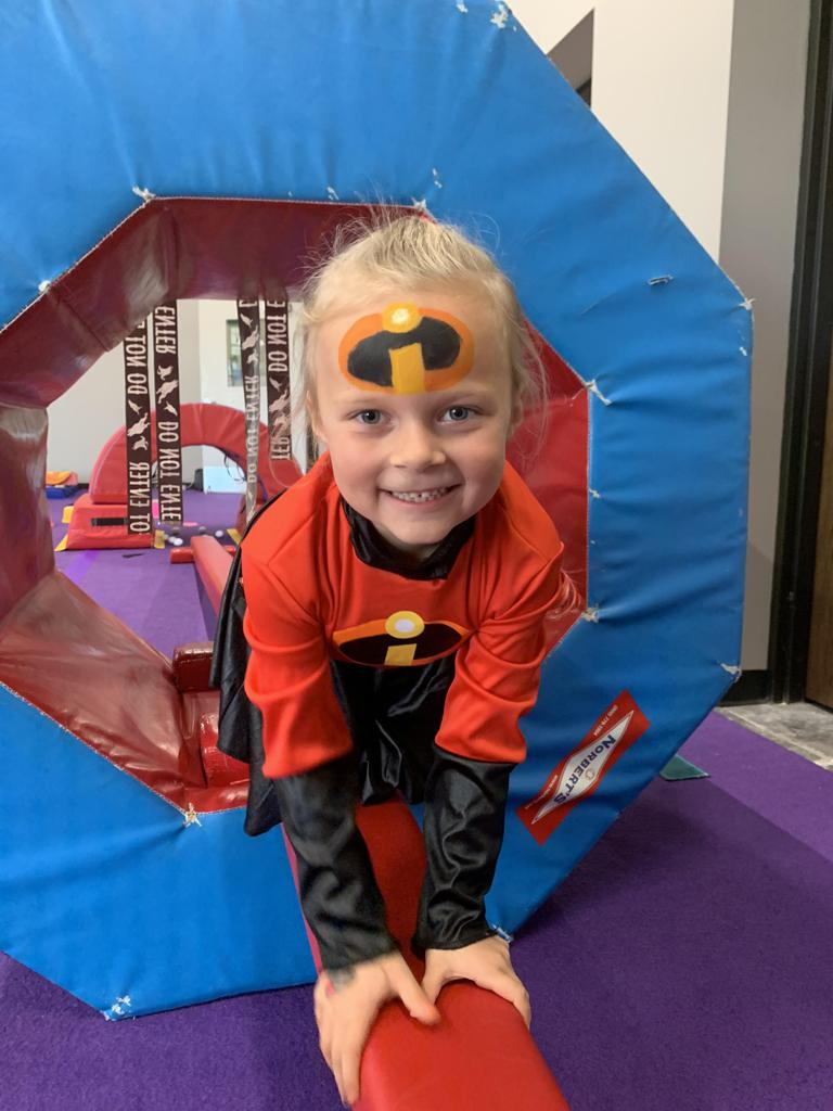 Girl dressed up for Jam Hops' Halloween event
