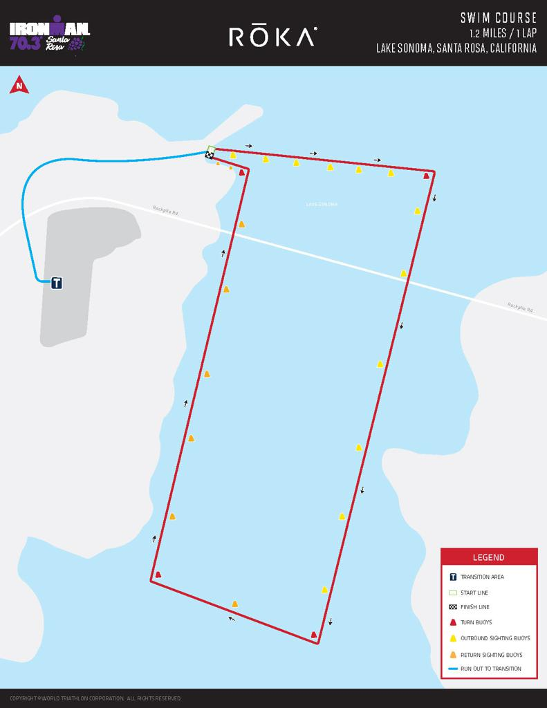 Swim course map IM703 Santa Rosa