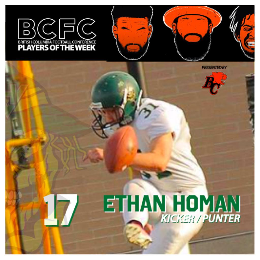 WEEK 1: BCFC Special Teams Player Of The Week - Ethan Homan Kicker Punter Valley Huskers