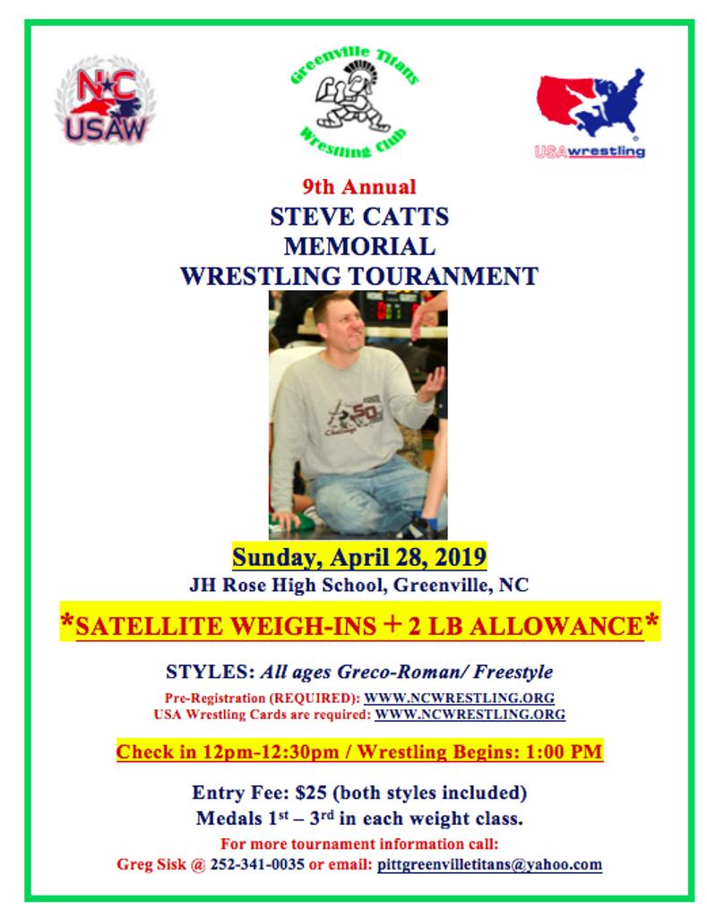2019 Steve Catts Memorial Event Flyer
