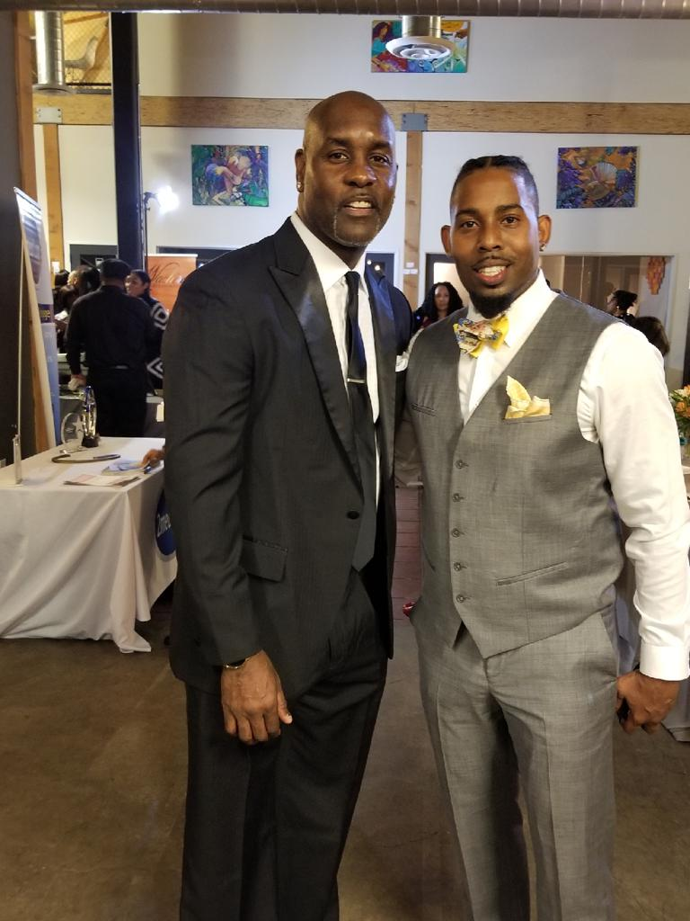 Coach Mack with NBA Legend & Hall of Famer Gary Payton