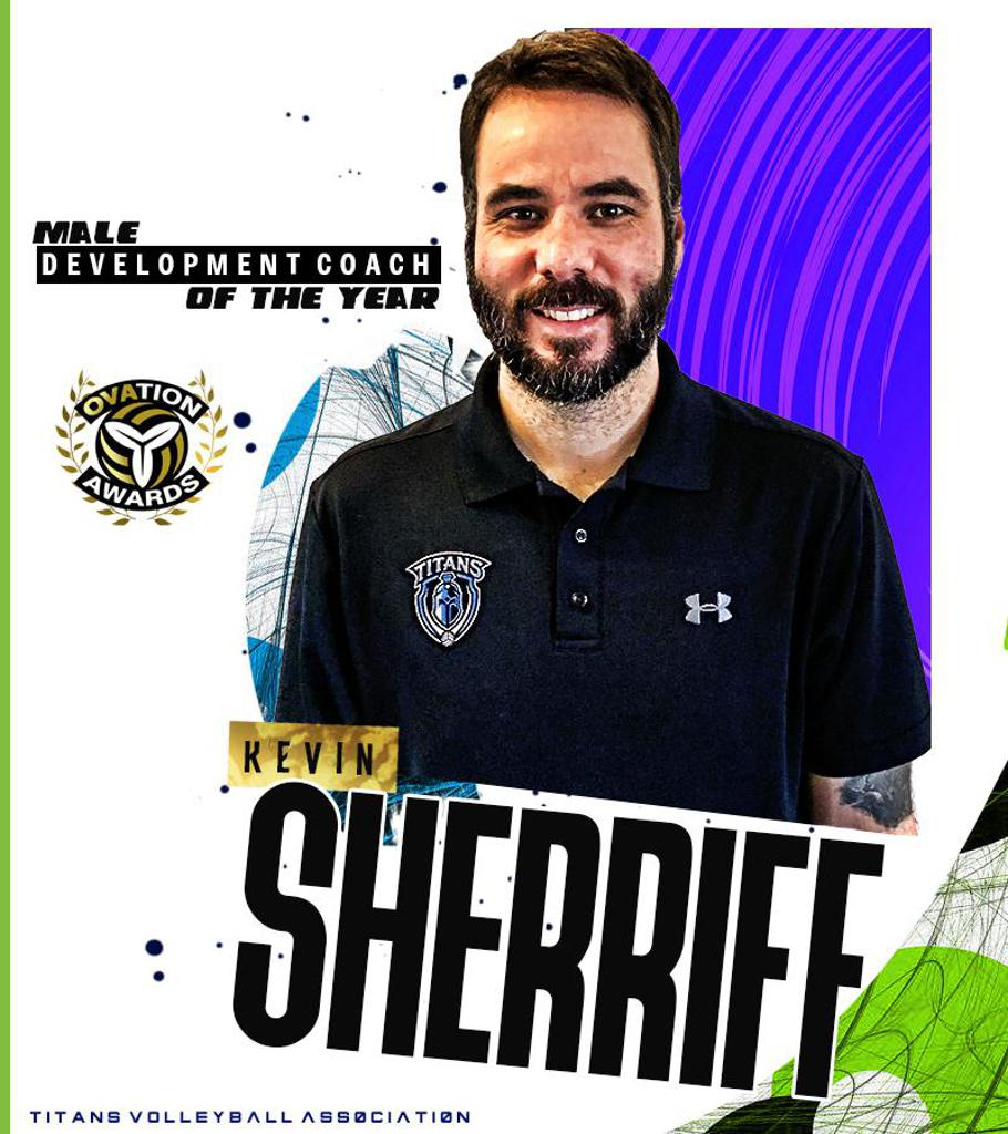 Kevin Sherriff OVA Male Development Coach of the Year Winner