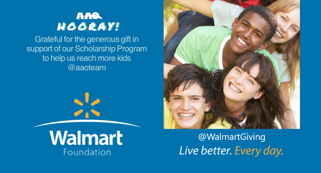 Thank you Walmart Foundation