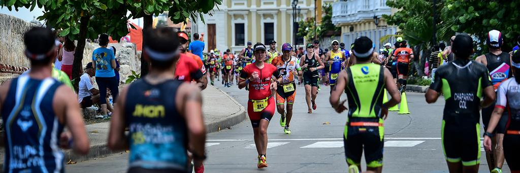 Runners at IRONMAN 70.3 Cartagena, South America
