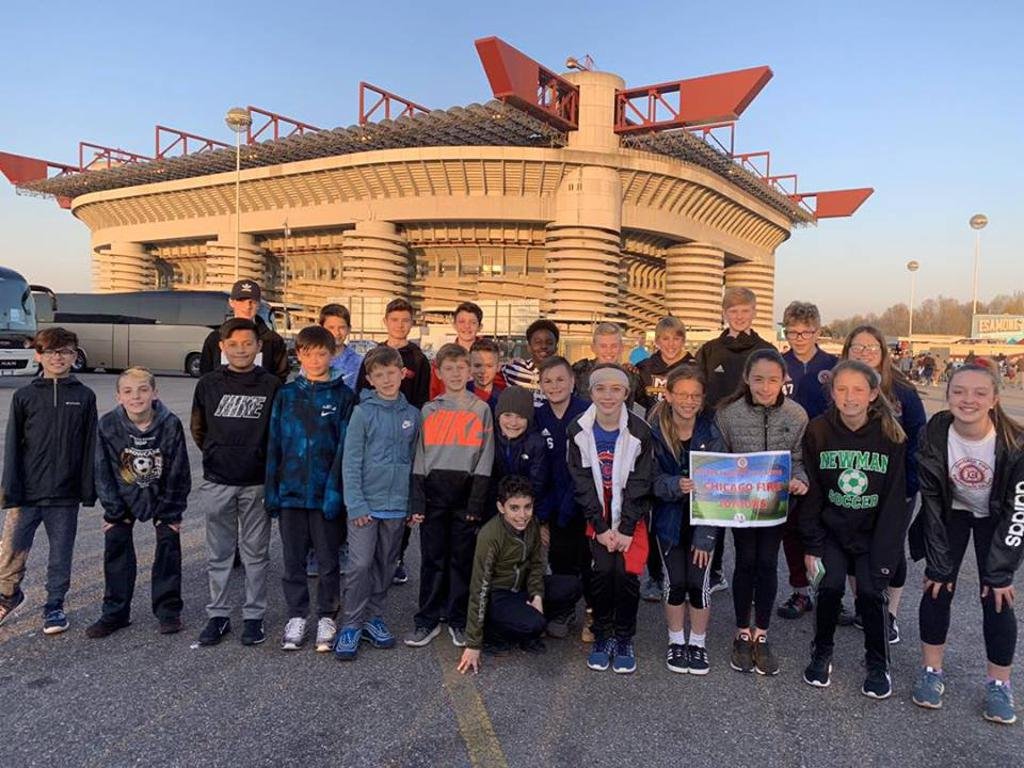 Fire Juniors visit San Siro, home of Inter and A.C. Milan