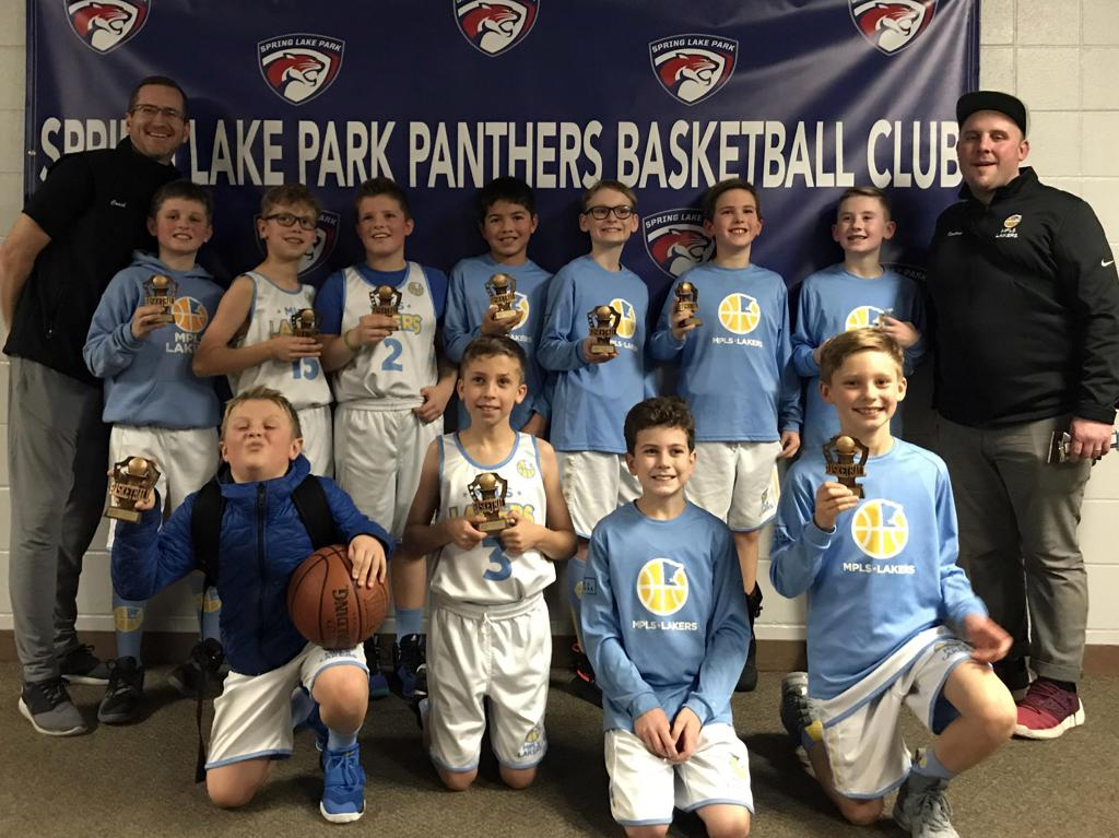 Boys 4th Grade Blue take 3rd Place at Spring Lake Park Panther Classic. Way to go Lakers! #MplsLakers #MplsLakersBasketball