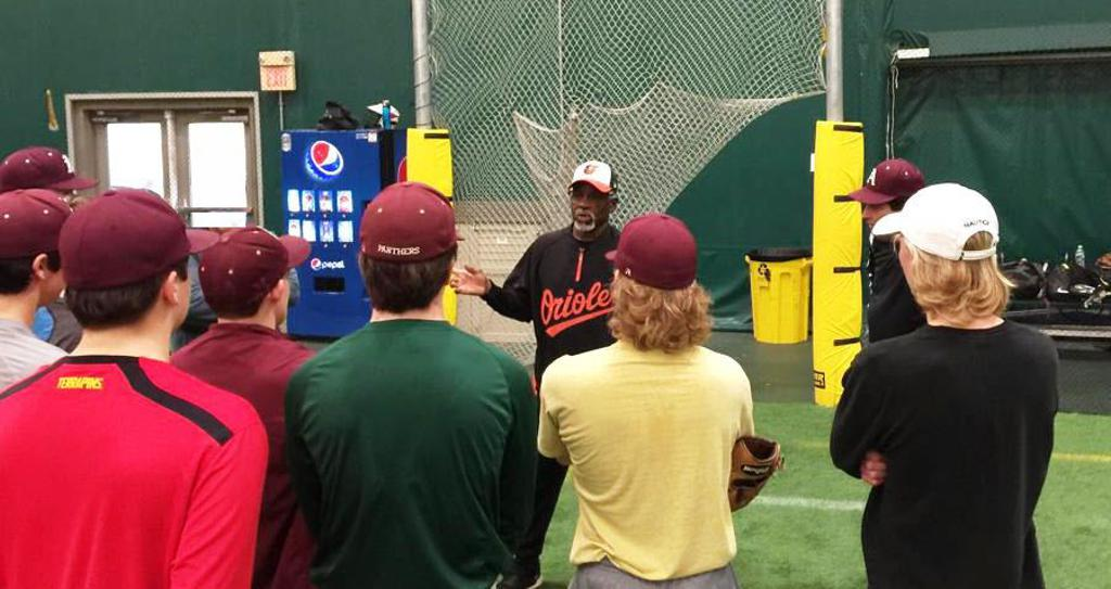 Special Guest Coach at last winter camp teaching the game.