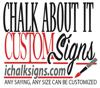 Sponsored by CHALK ABOUT IT CUSTOM SIGNS