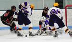 Cretin-Derham Hall forward Levi Bailey chases back to his own net to help with the defense in the Raiders 5-3 win against the Bears. Photo by Adam Crane