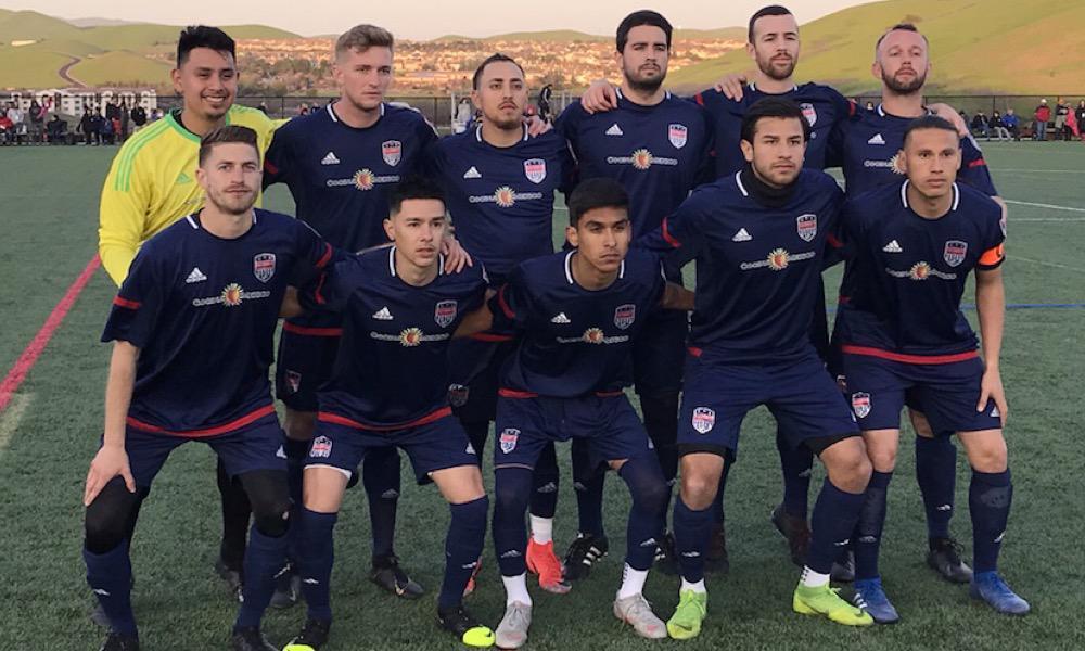 San Ramon FC men's semi-pro soccer team in NPSL match