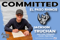 Jackson Truchan signs with El Paso Rhinos