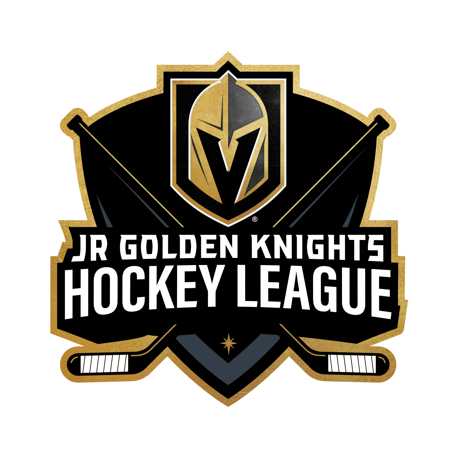 Jr Golden Knights Hockey League logo