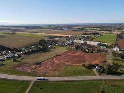 An aerial view of the new baseball field in Bedeque, Prince Edward Island.