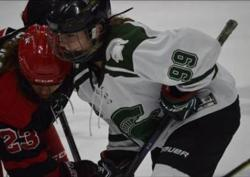 #99 Lindsay Reiss taking the draw for MSU