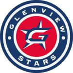 Glenview Stars Girls Red White Blue Logo