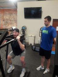 Daulton Halfacre works out at Apex Athletic Performance in Columbia, South Carolina.