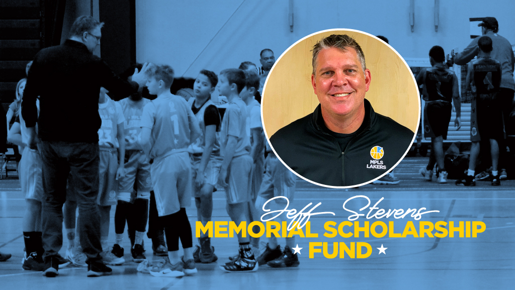 Mpls Lakers Youth Traveling Basketball Program Inc in Minneapolis, displayed here is a profile photo of Jeff Stevens wearing a Mpls Lakers pull over shirt with an embroidered logo. The profile photo is cropped into a circle and is superimposed over the to